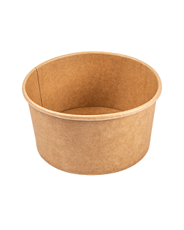 salad bowls 1000 ml 320 + 18 pe gsm Ø15/12,9x8 cm natural kraft (300 unit)