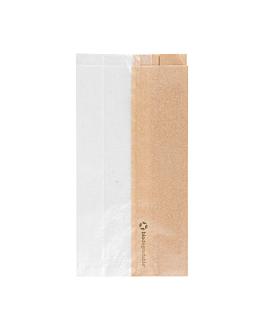 bolsas para sÁndwiches con ventana eco 'corner window' 40 g/m2 12+6x23 cm natural kraft (250 unid.)