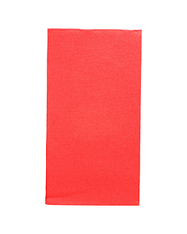 ecolabel napkins f. 1/8 'double point' 18 gsm 40x40 cm red tissue (1300 unit)