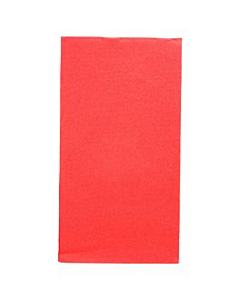 servilletas ecolabel p. 1/8 'double point' 18 g/m2 40x40 cm rojo tissue (1300 unid.)