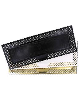 doilies swiss rolls 'erik' 14x38 cm gold cardboard (100 unit)