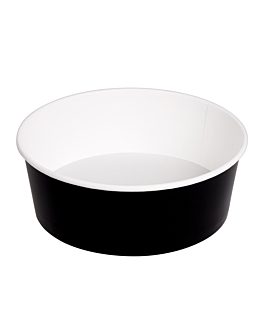 salad bowls 1300 ml 337 gsm + pe Ø 18,7/16x7 cm black cardboard (300 unit)