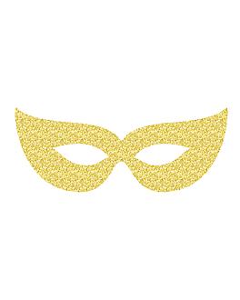 6 u. antifaces 19x7 cm dorado cartoncillo (1 unid.)