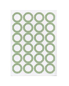 100 hojas din a4 24 etiquetas redondas Ø 4,2 cm blanco papel (1 unid.)