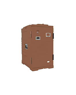 isothermal case 115 l 61x43x81 cm brown plastic (1 unit)