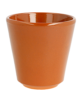 verres en faÏence 200 ml Ø 8,7x8,7 cm marron rougeatre ceramique (36 unitÉ)
