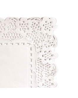 blondas rectangulares caladas 53 g/m2 30x18 cm blanco papel (250 unid.)