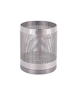 room paperbin 10 l Ø 22x29,5 cm silver stainless steel (1 unit)