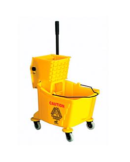 mop bucket + pressure wringer 32 l 62x40,5x86 cm yellow pehd (1 unit)