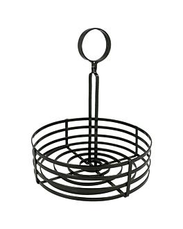 basket condiments Ø 20x20 cm noir fer (1 unitÉ)