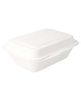 coquilles 'bionic' 600 ml 13,6x18,2x6,4 cm blanc bagasse (1000 unitÉ)
