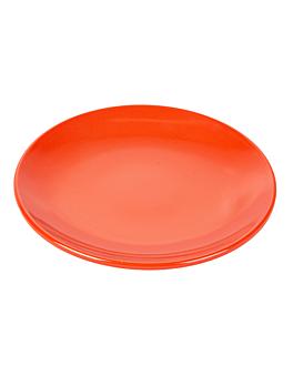 assiettes Ø 15,3 cm rouge melanine (12 unitÉ)