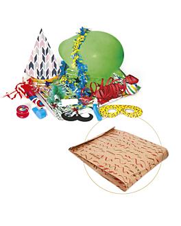 cotillon en sachets papier 'eco saint tropez' 26+8x35 cm assorti (1 unitÉ)