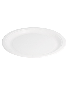 platos redondos bio-lacados 327 g/m2 Ø 22 cm blanco cartÓn (400 unid.)