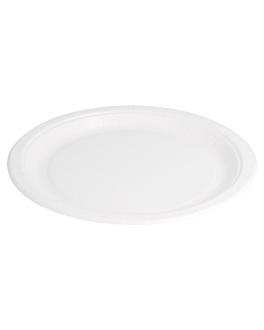 round bio-lacquered plates 327 gsm Ø 22 cm white cardboard (400 unit)