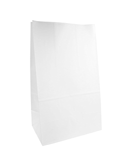 sos bags without handles 70 gsm 22+14x37 cm white cellulose (500 unit)