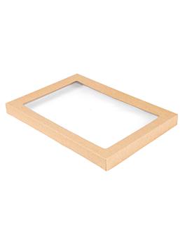 coperchi per scatole 253.15 300 g/m2 + pet 36,4x25,5x3 cm naturale kraft (100 unitÀ)
