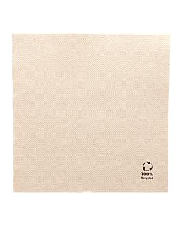 serviettes ecolabel 2 plis 'double point' 19 g/m2 30x30 cm naturel ouate recyclÉe (1800 unitÉ)