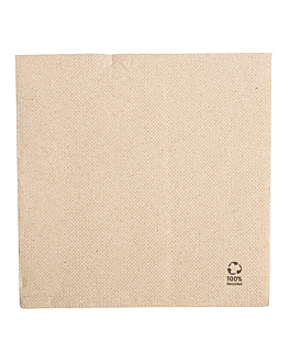 serviettes ecolabel 2 plis 'double point' 19 g/m2 30x30 cm naturel ouate recyclÉe (1800 unitÉ)