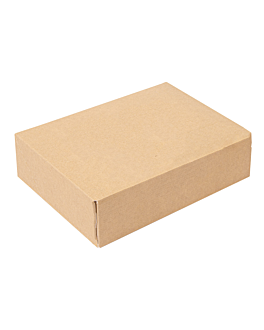 sushi boxes 'thepack' 220 gsm 19,7x12x4,5 cm brown nano-micro corrugated cardboard (400 unit)