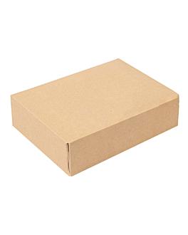 contenitori sushi 'thepack' 220 g/m2 19,7x12x4,5 cm marrone cartone ondulato a nano-micro (400 unitÀ)