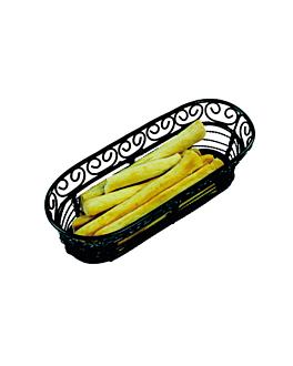 elongated basket 22,8x9,3x6,4 cm black steel (1 unit)
