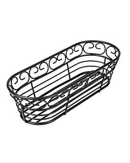 corbeilles allongÉes 22,8x9,3x6,4 cm noir acier (1 unitÉ)