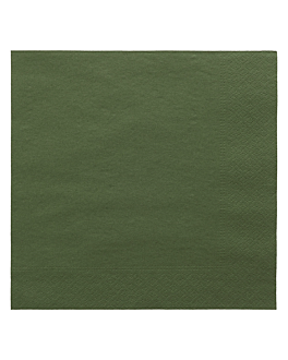 serviettes ecolabel 2 plis 18 g/m2 39x39 cm vert jaguar ouate (1600 unitÉ)