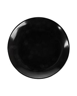 assiettes Ø 15,3 cm noir melanine (12 unitÉ)