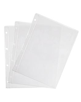 fundas din-a4 lateral 4 agujeros 30,4x23,8 cm transparente pvc (10 unid.)