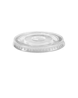 lids for cups - code 153.08 Ø 7,8 cm clear pet (1000 unit)