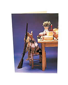 """carta 2 cuerpos """"caza"""" 48x33 cm surtido cartoncillo (1 unid.)"""