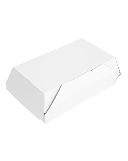 "cajas ""lunch box"" paperlock 'thepack' 220 g/m2 19,5x12,5x7 cm blanco cartÓn ondulado nano-micro (300 unid.)"