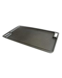 plaque À griller 46x25x1 cm noir fer (1 unitÉ)