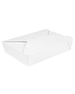 boÎtes amÉricaines micro-ondables 'thepack' 1470 ml 230 + 12pp g/m2 19,6x14x4,5 cm blanc carton ondulÉ nano-micro (300 unitÉ)