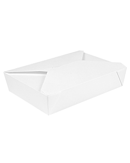 microwavable boxes rectangular 'thepack' 1470 ml 230 + 12pp gsm 19,6x14x4,5 cm white nano-micro corrugated cardboard (300 unit)