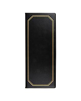 portamenÙ 2 pagine 10,5x29,7 cm nero pvc (1 unitÀ)