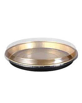bakery containers 900 ml Ø24,2x2,7 cm gold/black aluminium (100 unit)