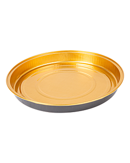 recipientes pastelerÍa 900 ml Ø24,2x2,7 cm oro/negro aluminio (100 unid.)