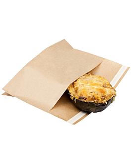 sacos com base auto-fecho 'kangoo pack' 50 g/m2 + 20 peld 21x17/11x3 cm natural kraft (100 unidade)