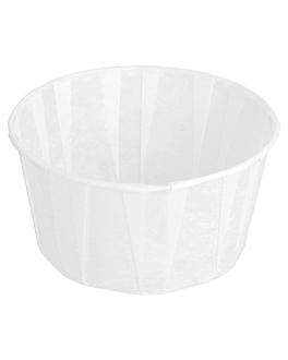 pots papier plissÉ 165 ml Ø8x4,3 cm blanc parch.ingraissable (250 unitÉ)