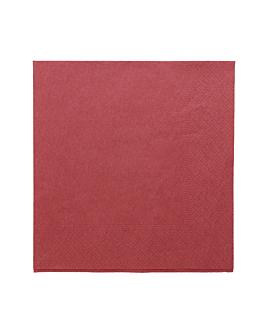 serviettes ecolabel 2 plis 18 g/m2 39x39 cm bordeaux ouate (1600 unitÉ)