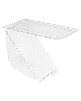 triangular sandwich containers triple 11x11x7,5 cm clear rpet (500 unit)