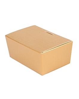 100 u. boÎtes 'ballotin' 125 g 10,3x6,7x4,5 cm dore carton (1 unitÉ)