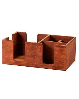 boÎtes prÉsentation avec compartiments 27x17x10 cm naturel bois (1 unitÉ)