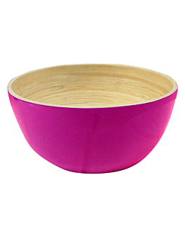 bols Ø 15x7 cm fuchsia bambou (60 unitÉ)
