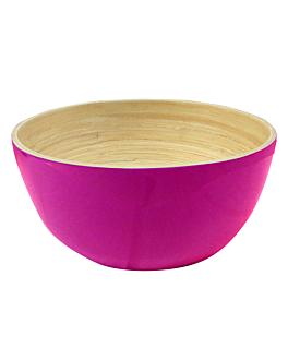 bowls Ø 15x7 cm fuchsia bamboo (60 unit)