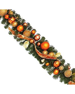 guirnalda + decoracion 270 cm verde (1 unid.)