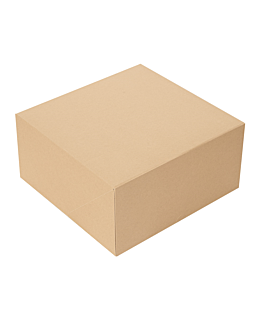 cake boxes without window 'thepack' 240 gsm 24x24x12 cm natural nano-micro corrugated cardboard (100 unit)