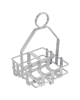 rack for table service 10,5x10,5x17 cm silver brass (1 unit)